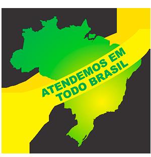 Atendemos em todo o Brasil